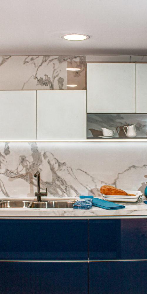 Cocina integral moderna Azul
