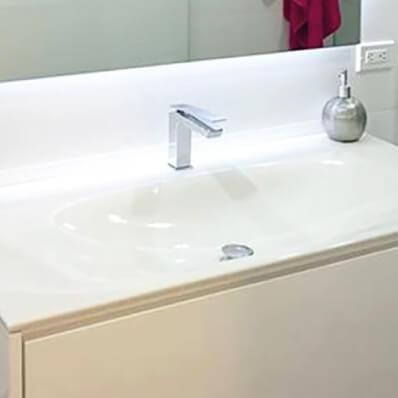 baño moderno flotante poliuretano