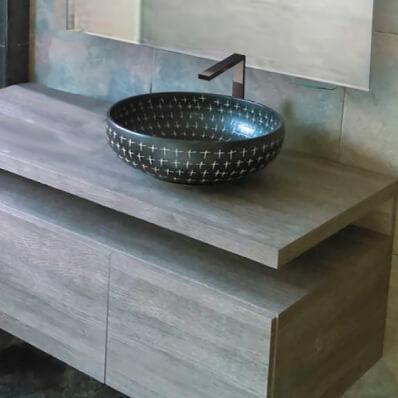 baño moderno flotante poceta sobre poner